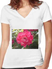 Pop Bloom 2 Women's Fitted V-Neck T-Shirt