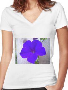 Pop Bloom Women's Fitted V-Neck T-Shirt