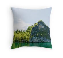 Green & Tranquil Throw Pillow