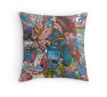 Vintage Comic Thor Throw Pillow