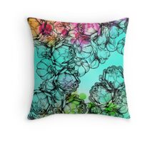 In my garden of colours Throw Pillow