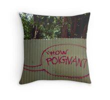 how poignant....  Throw Pillow