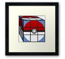Poke Ball Rubik's Cube Framed Print