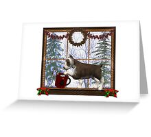December Puppy .. a christmas tale Greeting Card