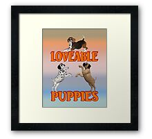 Loveable Puppies Framed Print