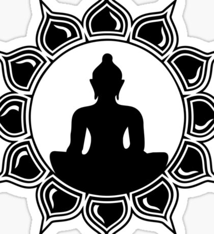 Buddha Meditation, Lotus Flower, Anahata, Heart Chakra Sticker