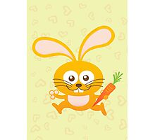 Smiling Little Bunny Photographic Print