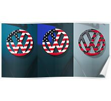 VW Triptych Poster