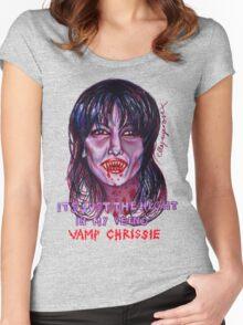 Vamp Chrissie Women's Fitted Scoop T-Shirt