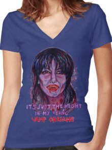 Vamp Chrissie Women's Fitted V-Neck T-Shirt