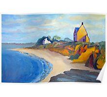 la Maison sur la falaise Atlantique à Quimiac Poster