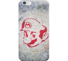 Super Mario Bros Urban Hip Hop Wall Tag iPhone Case/Skin