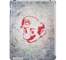 Super Mario Bros Urban Hip Hop Wall Tag iPad Case/Skin