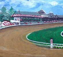 Saratoga Race Track In August by Phyllis Dixon