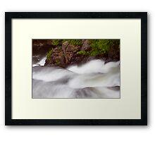 Les Cascades Framed Print