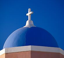Church Dome, Santorini (Greece)  by Petr Svarc