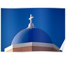 Church Dome, Santorini (Greece)  Poster