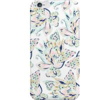 Modern pastel pink watercolor gold floral paisley iPhone Case/Skin