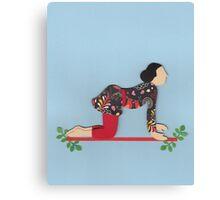 Shvanasana - DOG yoga posture Canvas Print