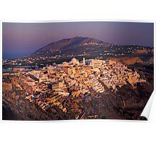 Thira Village and Caldera, Santorini (Greece) Poster