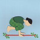 Kakasana - CROW yoga posture by Marikohandemade