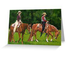 Western Pleasure Quarter Horse Portrait Greeting Card