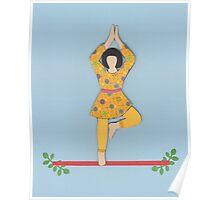 Vriksasana - TREE yoga posture Poster