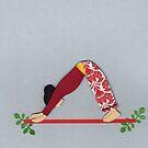 Adho Mukha Svanasana - DOWNWARD-FACING DOG yoga posture by Marikohandemade