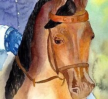 Arabian Saddleseat Horse Portrait by Oldetimemercan