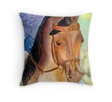 Arabian Saddleseat Horse Portrait Throw Pillow