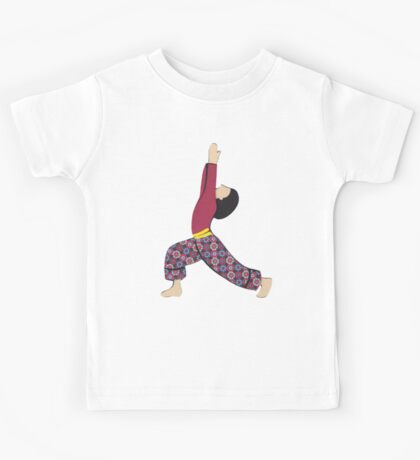 Ardha Virabhadrasana - HALF WARRIOR yoga posture Kids Tee