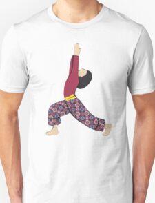 Ardha Virabhadrasana - HALF WARRIOR yoga posture Unisex T-Shirt