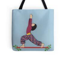 Ardha Virabhadrasana - HALF WARRIOR yoga posture Tote Bag