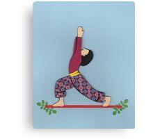 Ardha Virabhadrasana - HALF WARRIOR yoga posture Canvas Print