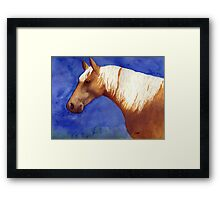 Palomino Quarter Horse Portrait Framed Print