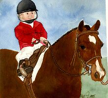Welsh Pony Child Leadline Class Portrait by Oldetimemercan