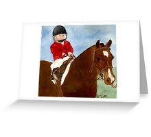 Welsh Pony Child Leadline Class Portrait Greeting Card