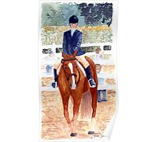 Quarter Horse Youth Hunter Under Saddle Class Portrait Poster