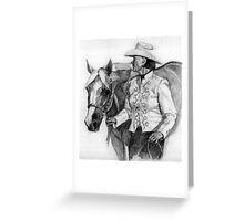 Amateur Quarter Horse Showmanship Portrait Greeting Card