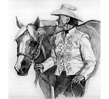 Amateur Quarter Horse Showmanship Portrait Photographic Print