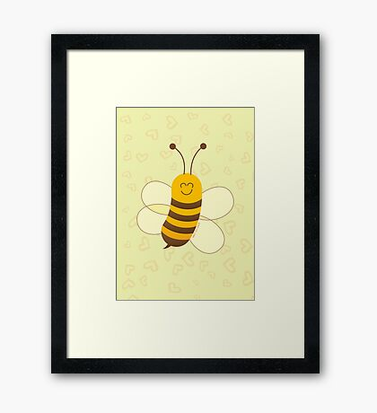 Smiling Little Bee Framed Print
