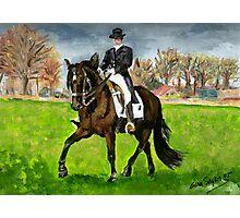 Alter Real Dressage Horse Portrait Photographic Print