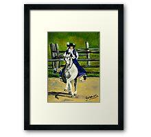 Azteca Dressage Horse Portrait Framed Print