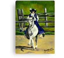 Azteca Dressage Horse Portrait Canvas Print