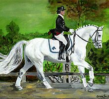 Dressage Horse I Portrait by Oldetimemercan