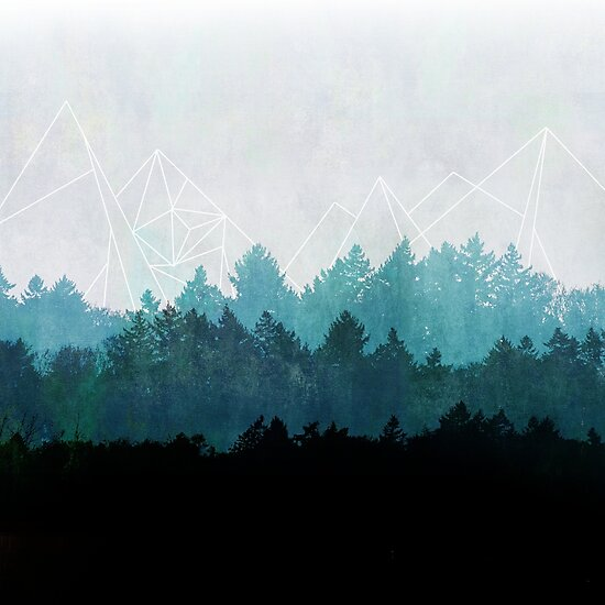 Woods Abstract by Mareike Böhmer