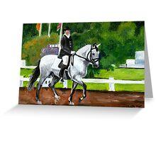 Lusitano Dressage Horse Portrait Greeting Card