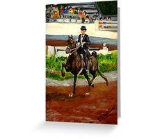 Morgan Horse Saddleseat Portrait Greeting Card