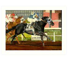 Quarter Horse Racing Portrait Art Print