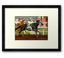 Quarter Horse Racing Portrait Framed Print